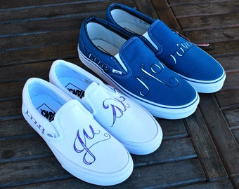 Just Married Custom Wedding Vans shoes