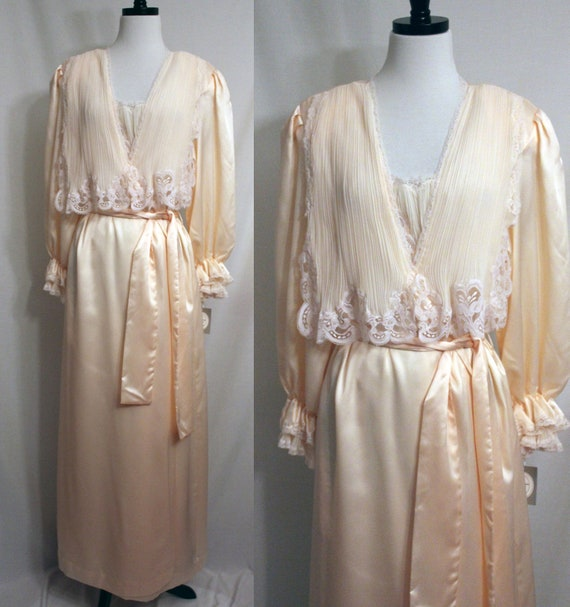 RESERVED Christian Dior Peignoir Nightgown and Robe Set Size Large