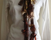 SALE - Crochet scarf and necklace