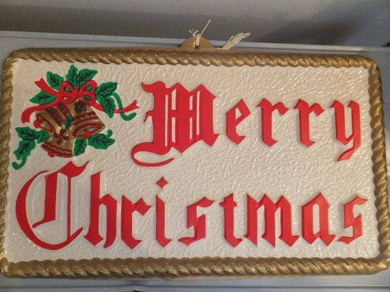 Outdoor Lighted Merry Christmas Sign