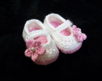 Crochet Mary Jane Slipper Shoes for Babies