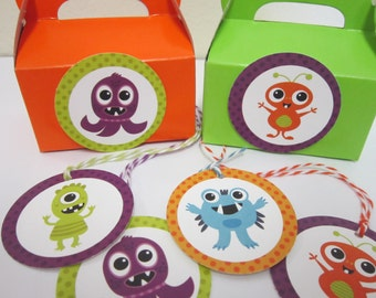 Monster Party Favor Tags ~ Set of 12
