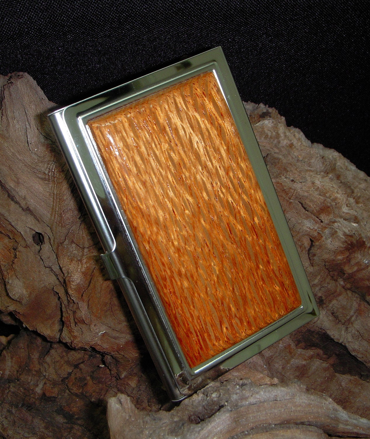 Exotic Lacewood Business Card Case for men - Gift for the Groom ...