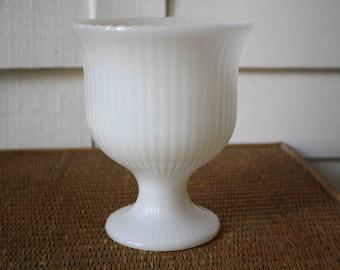 milk glass vase, urn