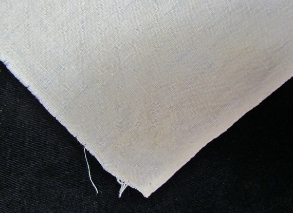 Vintage homespun linen fabric - late 1800's