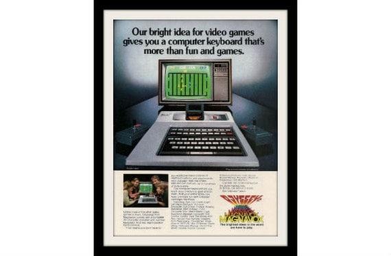 "1980 MAGNAVOX ODYSSEY 2 Computer Game Ad ""Bright Idea"" Vintage Advertisement Print"