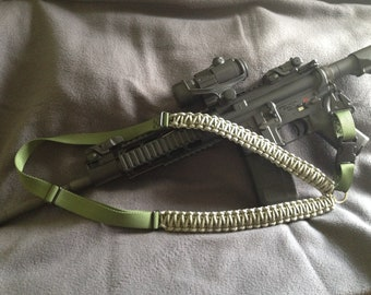 Single Point Paracord Rifle Sling -- Adjustable and Includes HK Clip