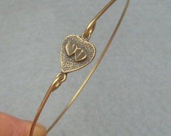 Heart Bangle Bracelet Style 16