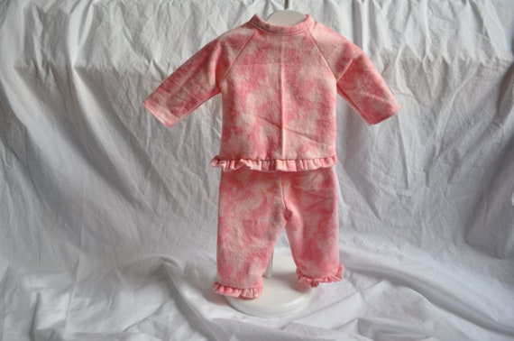 American Girl doll clothes.  Doll top and pants for 18 inch doll in pink shades