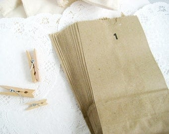 100 Brown Kraft Paper Bags 3.5X6.5 inch