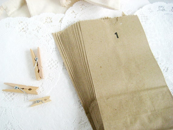 50 Brown Kraft Paper Bags 3.5X6.5 inch