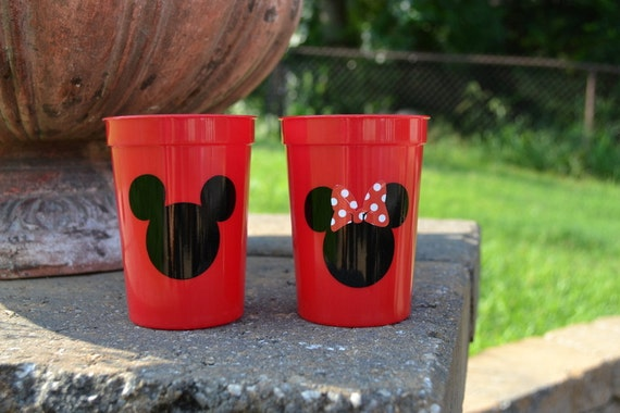 40 Red Mickey Mouse or Minnie Mouse party favor cups