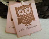 Baby, Baby Shower, Gift Tags, Favor Tags, New Beginnings, Shower, Owl
