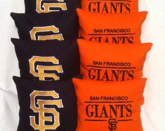 San Francisco Giants Embroidered Corn Hole Bags - Set of 8
