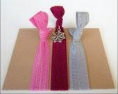 Hair Charmers - Christmas - Set of 3 - Elastic Hair Ties - Mane Accessory