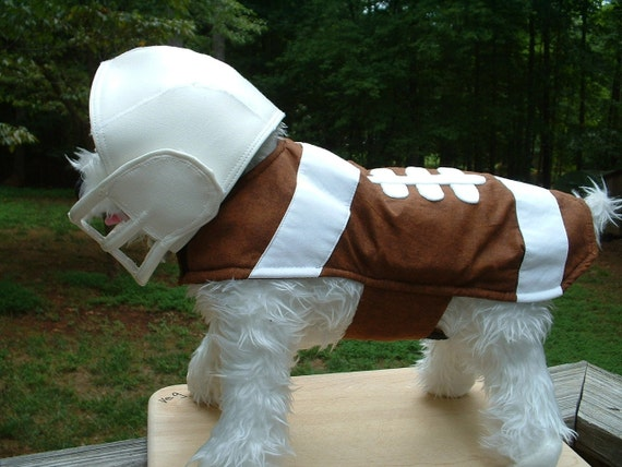 RESERVED LISTING for DIANA                      Football Dog Costume .... Helmet ..... Face Guard