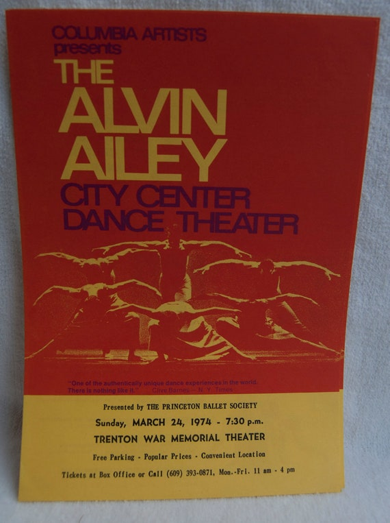 Alvin Ailey Hand Bill