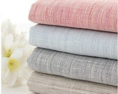 Summer Spring Linen Fabric, Yarn Dyed DIY Cloth Art Manual Cloth -Pure linen Cloth 55x18 Inches (G26)