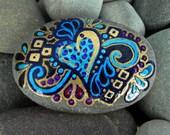 Gypsy Heart / Painted Rock /Sandi Pike Foundas