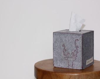 Nikkie's Felt Reindeer Tissue Box Cover