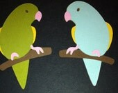 Pretty Parakeets Die Cuts