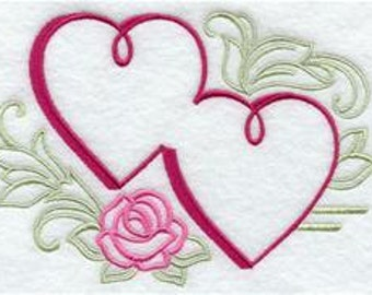 Double Heart - Wedding Accent Designs  ---   SMALL