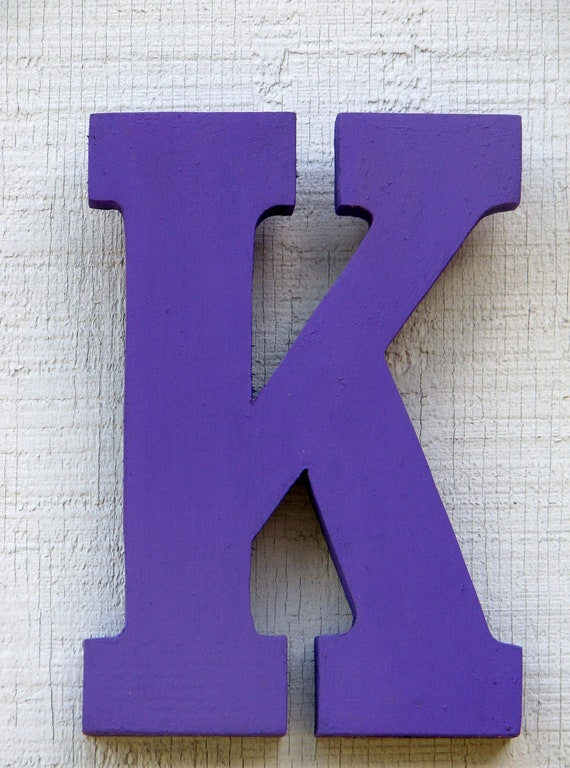 Baby Room Decor Wooden Letter K 8 Tall Rustic Nursery