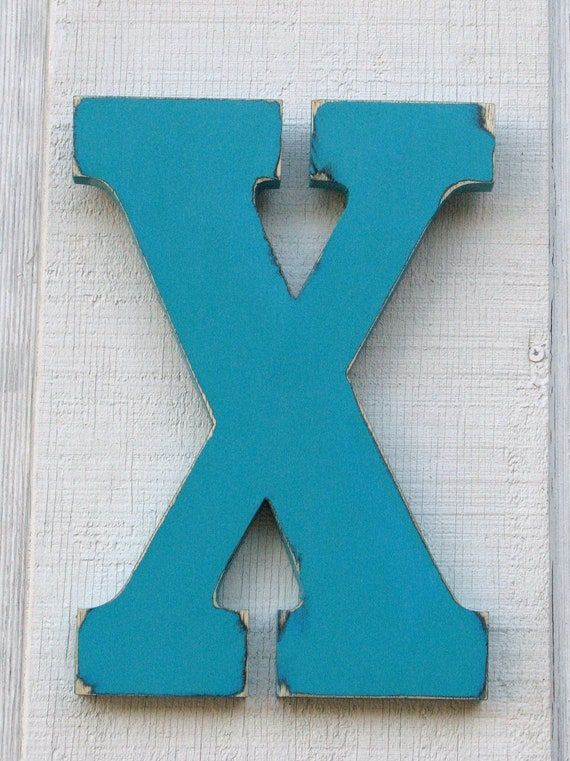 rustic wooden letters x lowercase distressed painted island green12 tall wood name letters