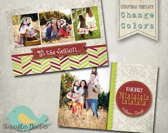Christmas Card Template PHOTOSHOP TEMPLATE - Family Christmas Card 72