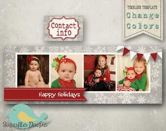 Christmas Facebook Timeline Templates - Timeline 32