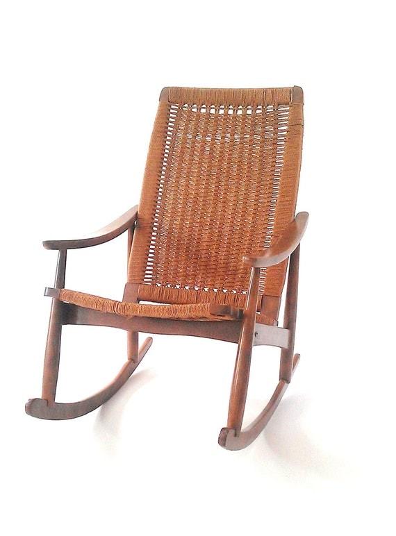 Danish Modern Chair, Wegner Rocker, Rocking Chair, Mid Century Classic
