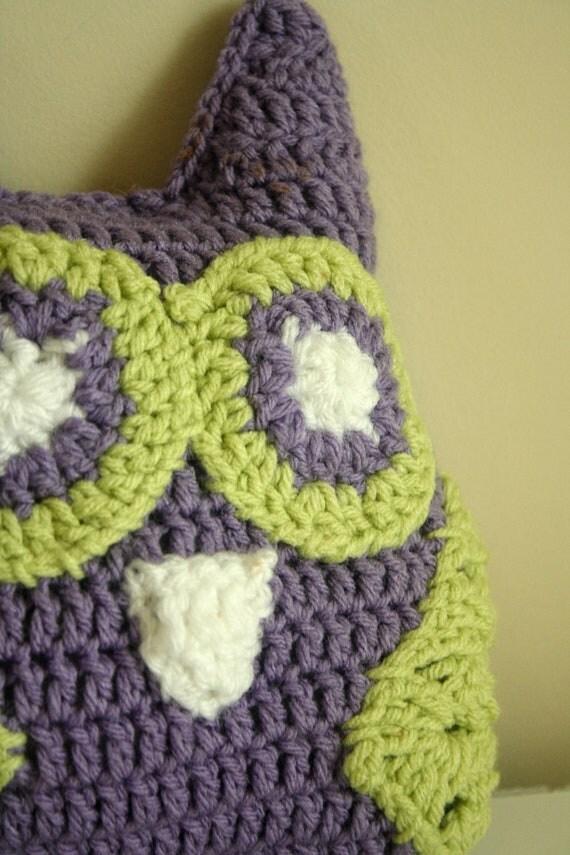 Custom Crocheted Stuffed Owl