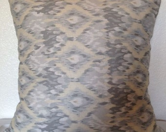 2 Pillow Covers 16x16 inch-Free US Shipping - Dear Stella Lanikai Ikat Grey