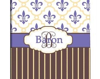 Custom Fleur de lis Shower Curtain Personalized