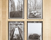Set of Four Postcards - Echo Series 1-4 Poetic fine art photography in sepia that plays off the senses.