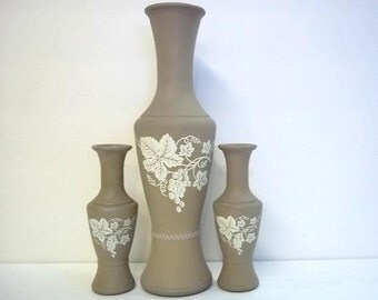 Frosted Wedgewood style Vases