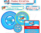 School Label Pack, Airplanes