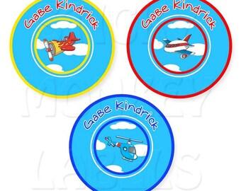 Round (3 Sizes), Airplanes