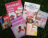 FREE SHIPPING Bundle of Six Vintage Dessert Cookbooks Betty Crocker Better Homes Good Housekeeping
