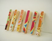 Upcycled Fabric Covered Clothes Pins