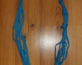 CACAU Blue Necklace. Handmade from Recycled Fabric