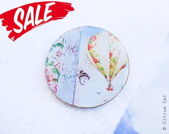 SALE - Dreams of sky brooch