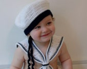Crochet Sailor Boy Photo Prop Set with Wrap, Collar & Hat INSTANT DOWNLOAD PDF from Thomasina Cummings Designs