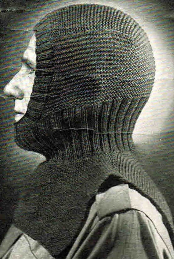 Knitting Pattern For A Balaclava : Items similar to Balaclava- perfect for the slopes- classic retro style- Aust...