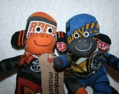 Boys Hotwheels cars Sock Monkey twins, toy, doll - personalised/personalized