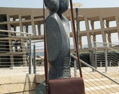 Fine Leather bag with Fringe.  Shoulder, hip or messenger bag. Cross Body