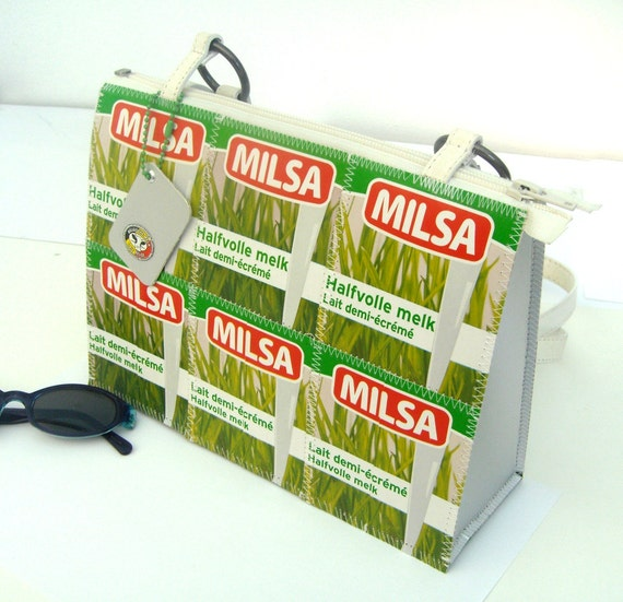 SALE - upcycled purse milk tetra