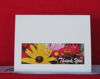 Wild Flowers Thank You Card