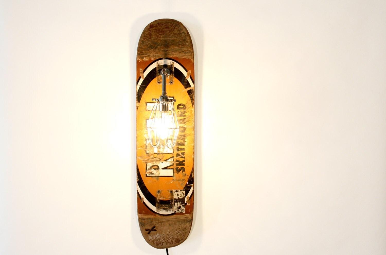 RESERVED Repurposed Skateboard Sconce Lamp