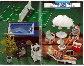 Fashion Doll Patio Playtime Plastic Canvas Pattern for Barbie - Annie Attic  87D29